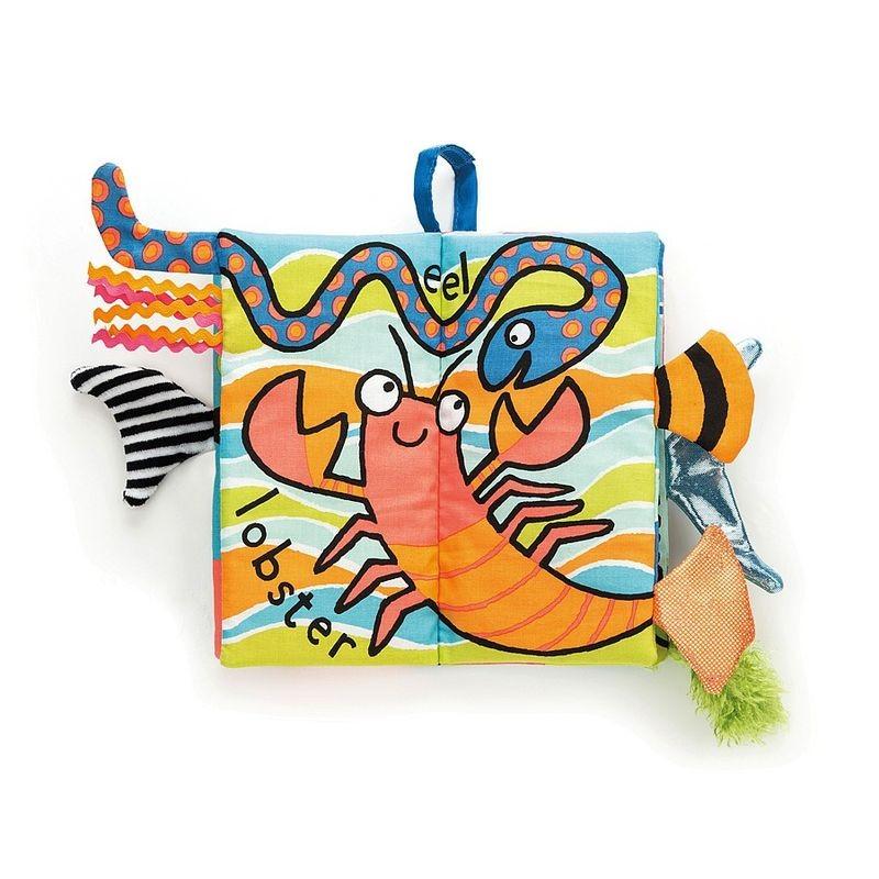 JellyCat Miękka książeczka Sea Tails 21 cm - Pan Talerzyk