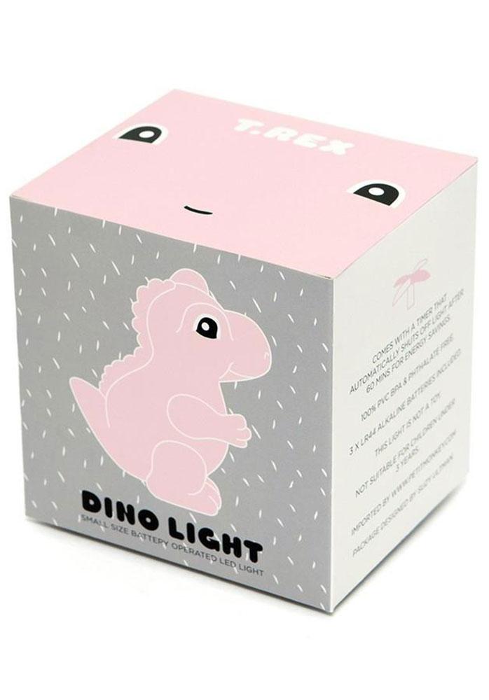 Petit Monkey Lampka nocna LED T-rex szary - Pan Talerzyk