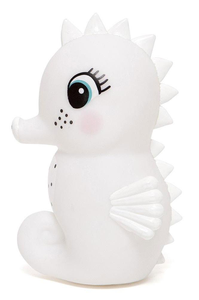 Petit Monkey Lampka nocna LED konik morski biały - Pan Talerzyk