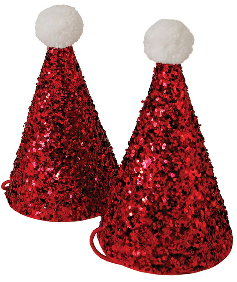 Meri Meri Mini czapeczki Santa - Pan Talerzyk