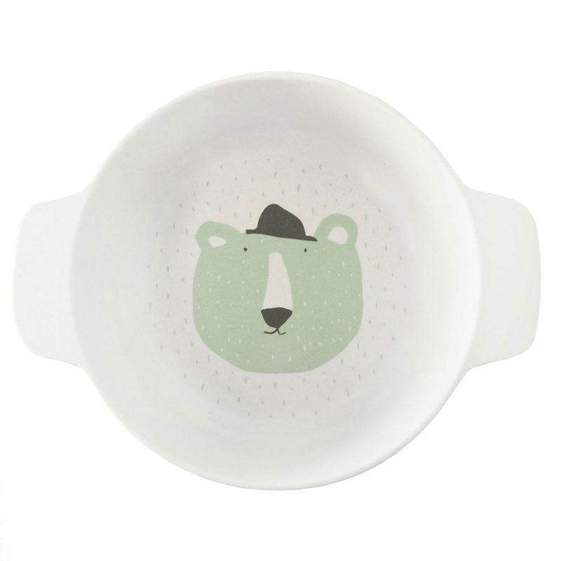Trixie Baby Miseczka z uchwytami Mr. Polar Bear - Pan Talerzyk