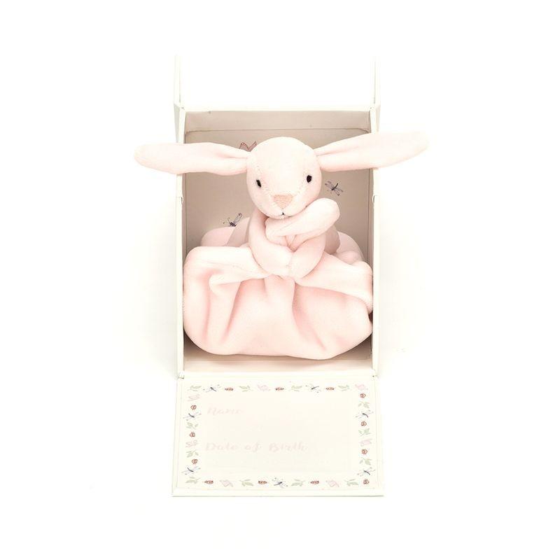 JellyCat Mój pierwsza kocyk-przytulanka króliczek w pudełku 23 cm - Pan Talerzyk