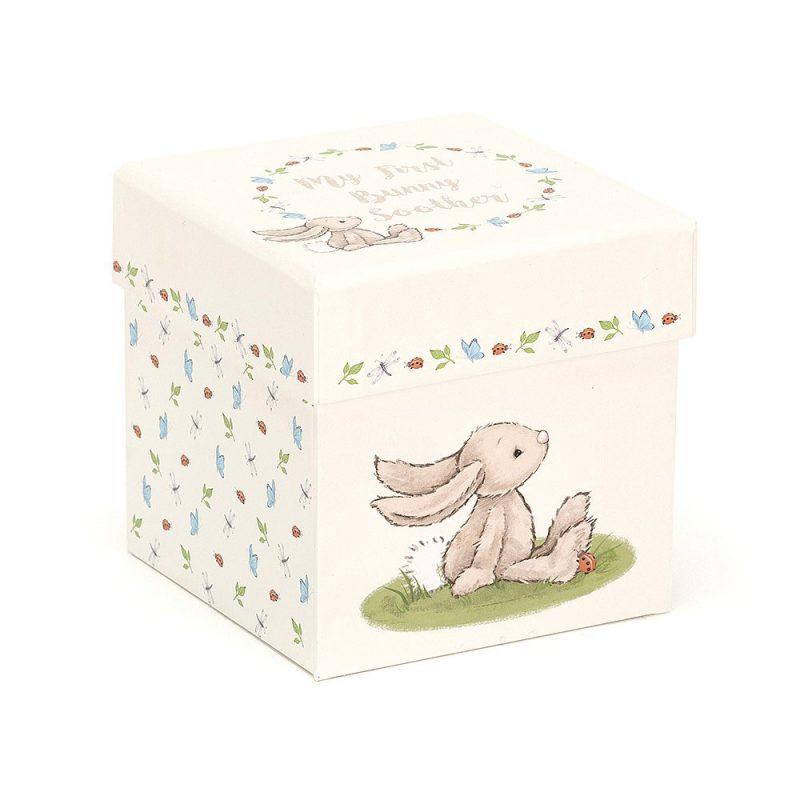 JellyCat Mój pierwszy królik - kocyk-przytulanka 23 cm - Pan Talerzyk