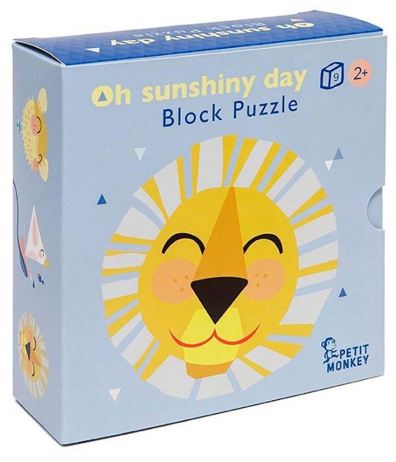 Petit Monkey Układanka Oh Shiny Day - 9 elementów - Pan Talerzyk