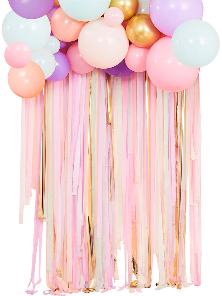 Ginger Ray Pastelowa chmurka balonowa z kurtyną - Pan Talerzyk