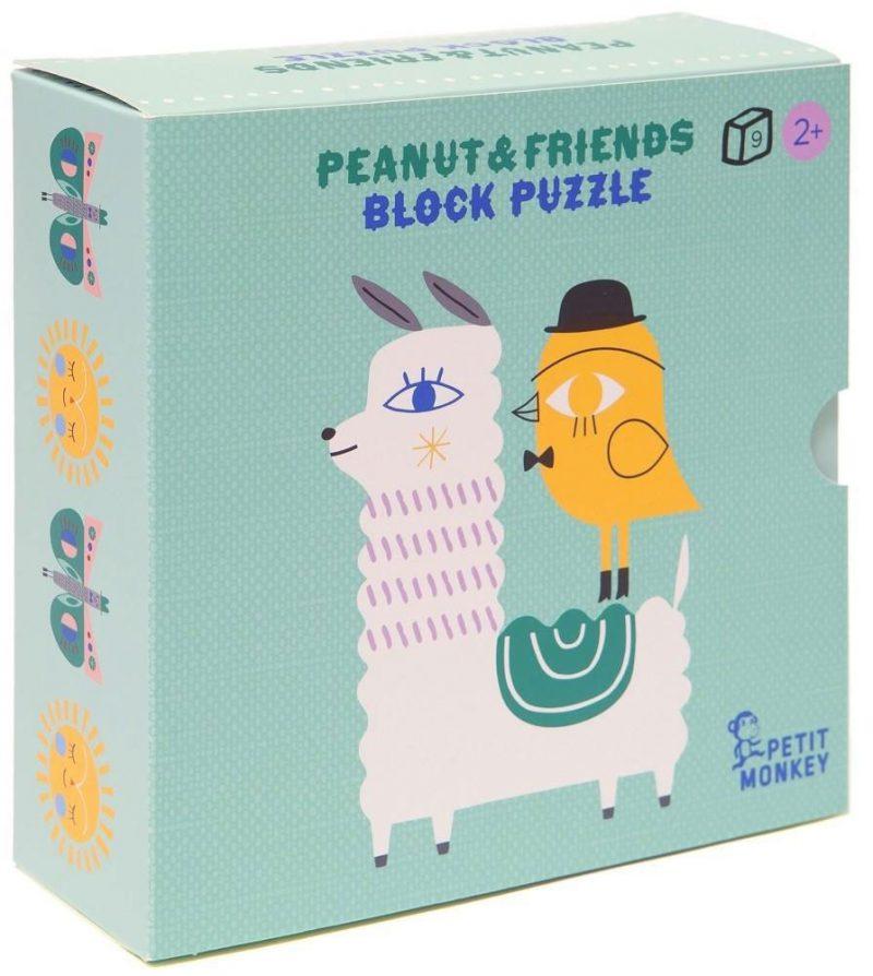Petit Monkey Układanka Peanut & Friends - 9 elementów - Pan Talerzyk