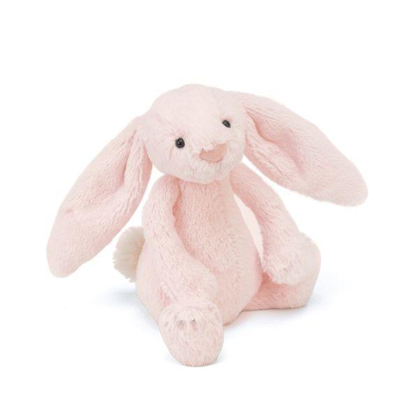 JellyCat Przytulanka grzechotka królik różowa 18 cm - Pan Talerzyk