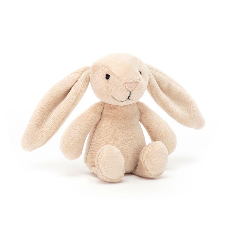 JellyCat Przytulanka królik - grzechotka w pudełku 12 cm - Pan Talerzyk