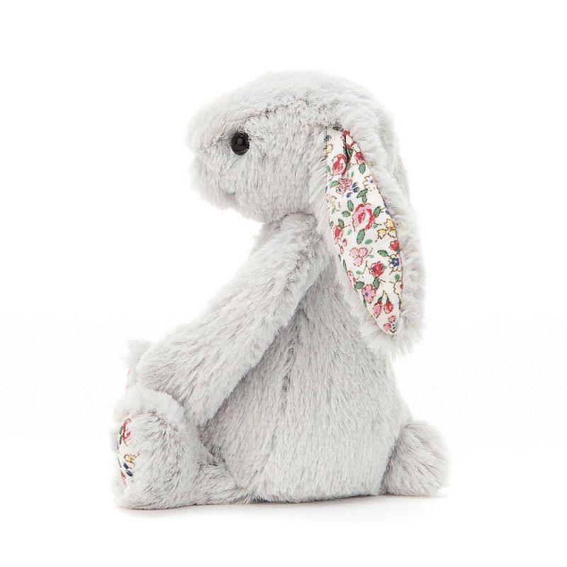 JellyCat Przytulanka królik jasnoszary kolorowe szy 36 cm - Pan Talerzyk