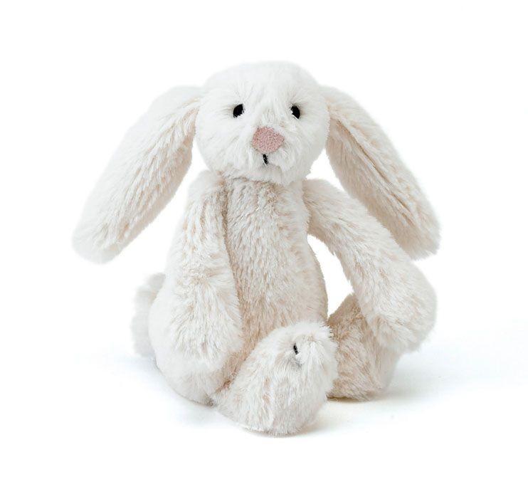 JellyCat Przytulanka królik kremowy 13 cm - Pan Talerzyk