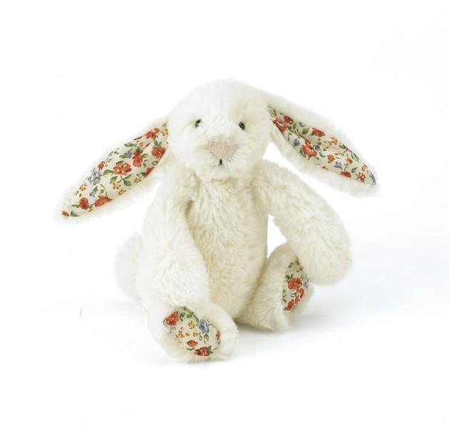 JellyCat Przytulanka królik kremowy kolorowe uszy 13 cm - Pan Talerzyk