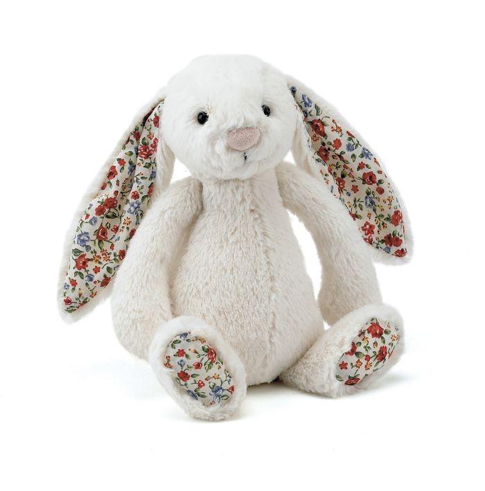 JellyCat Przytulanka królik kremowy kolorowe uszy 31 cm - Pan Talerzyk