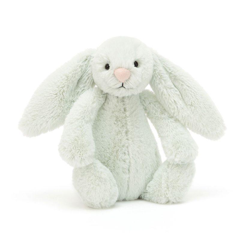 JellyCat Przytulanka królik pastelowy zielony 18 cm - Pan Talerzyk