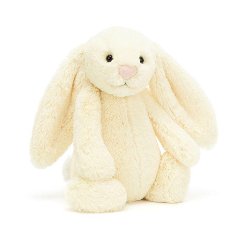 JellyCat Przytulanka królik pastelowy żółty 31 cm - Pan Talerzyk