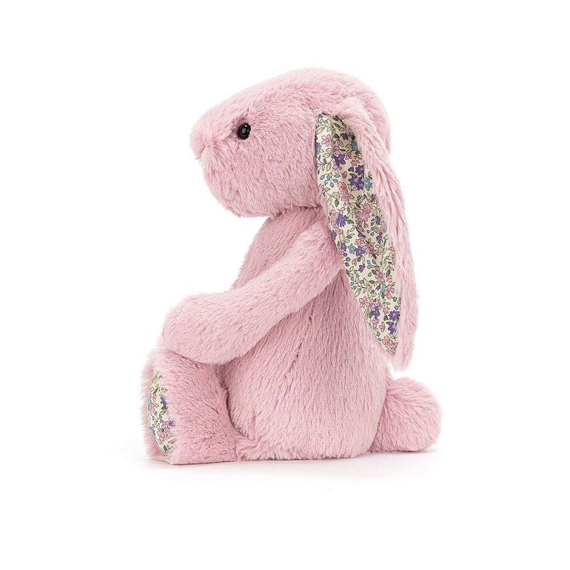 JellyCat Przytulanka królik różowy kolorowe uszy 13 cm - Pan Talerzyk