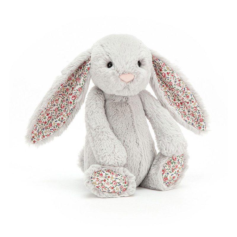 JellyCat Przytulanka królik szary kolorowe uszy 31 cm - Pan Talerzyk