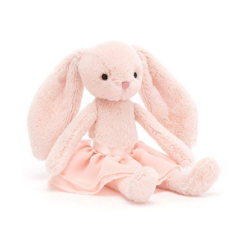 JellyCat Przytulanka królik w spódnicy jasnoróżowy 20 cm - Pan Talerzyk