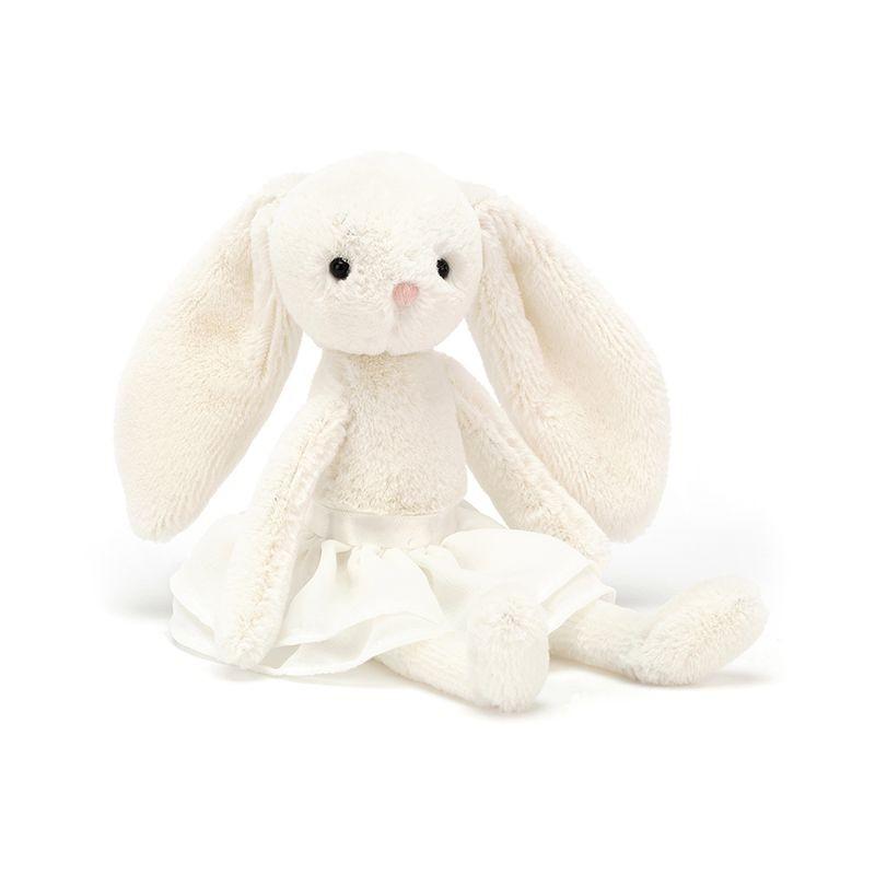 JellyCat Przytulanka królik w spódnicy kremowy 20 cm - Pan Talerzyk