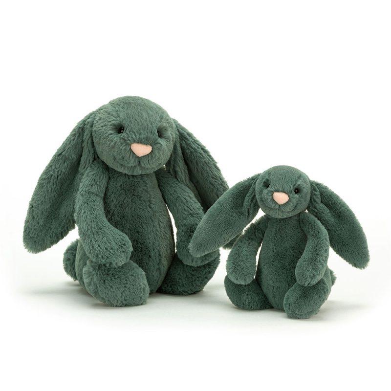 JellyCat Przytulanka królik zielony 31 cm - Pan Talerzyk