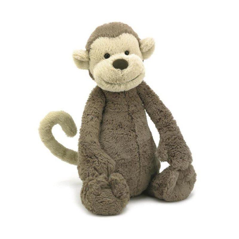 JellyCat Przytulanka małpka Bashful 18 cm - Pan Talerzyk
