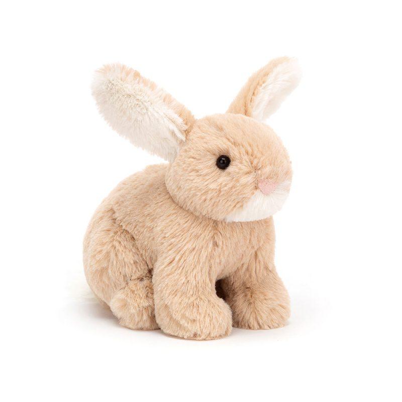 JellyCat Przytulanka mały beżowy królik 10 cm - Pan Talerzyk