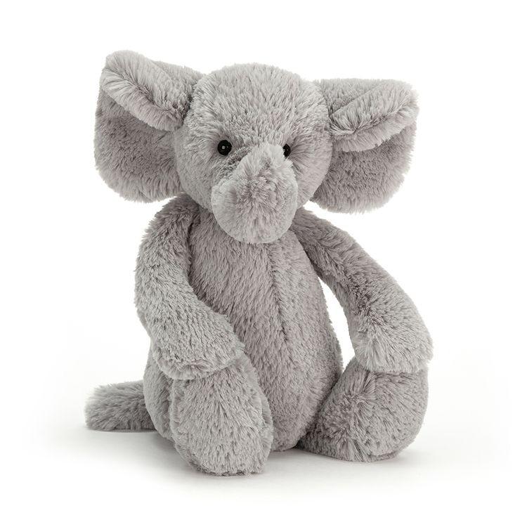 JellyCat Przytulanka słoń Bashful 31 cm - Pan Talerzyk
