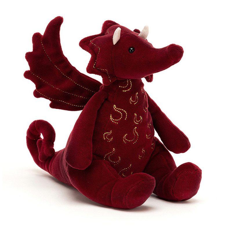 JellyCat Przytulanka smok Ruby 19 cm - Pan Talerzyk