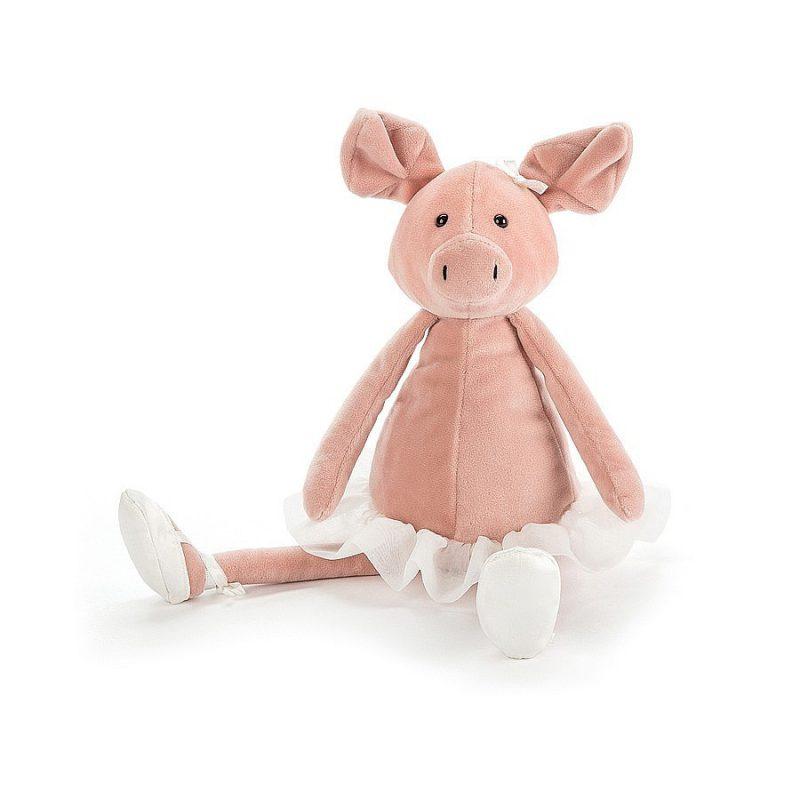 JellyCat Przytulanka świnka tancerka 33 cm - Pan Talerzyk