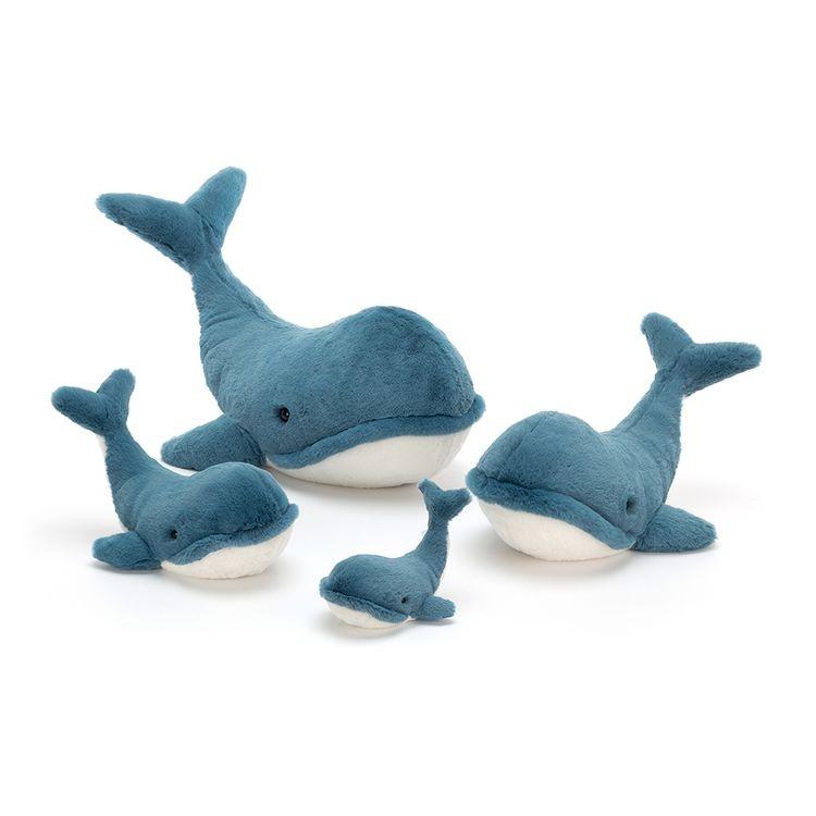 JellyCat Przytulanka wieloryb Wally 20 cm - Pan Talerzyk