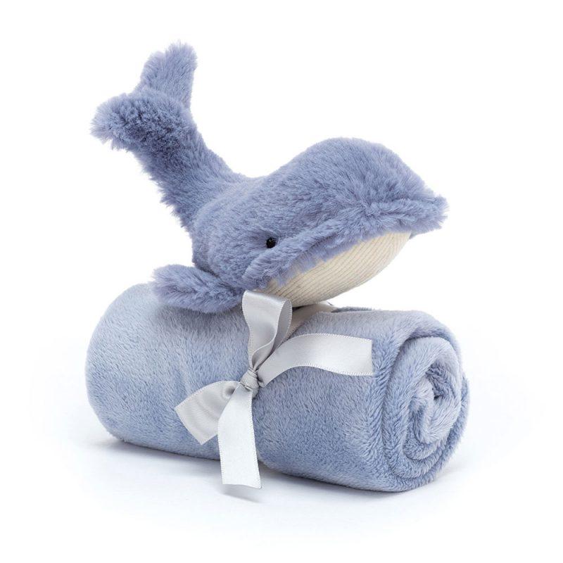 JellyCat Przytulanka wieloryb Wilbur 13 cm - Pan Talerzyk