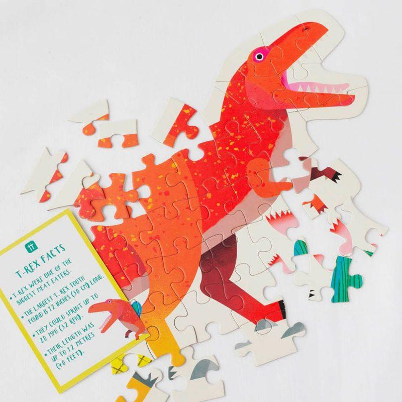 Talking Tables Puzzle T-Rex - 52 elementy - Pan Talerzyk