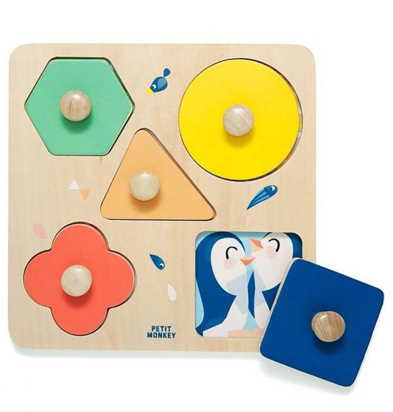 Petit Monkey Puzzle drewniane Dzień w ZOO - Pan Talerzyk