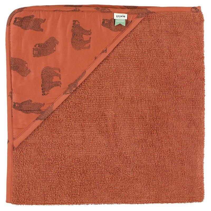 Trixie Baby Ręcznik z kapturem Brave Bear - Pan Talerzyk
