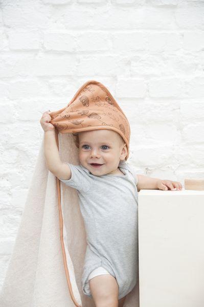 Trixie Baby Ręcznik z kapturem + myjka Silly Sloth - Pan Talerzyk