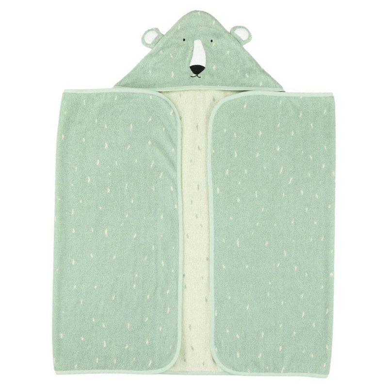 Trixie Baby Ręcznik z kapturkiem 70x130 cm Mr.Polar Bear - Pan Talerzyk