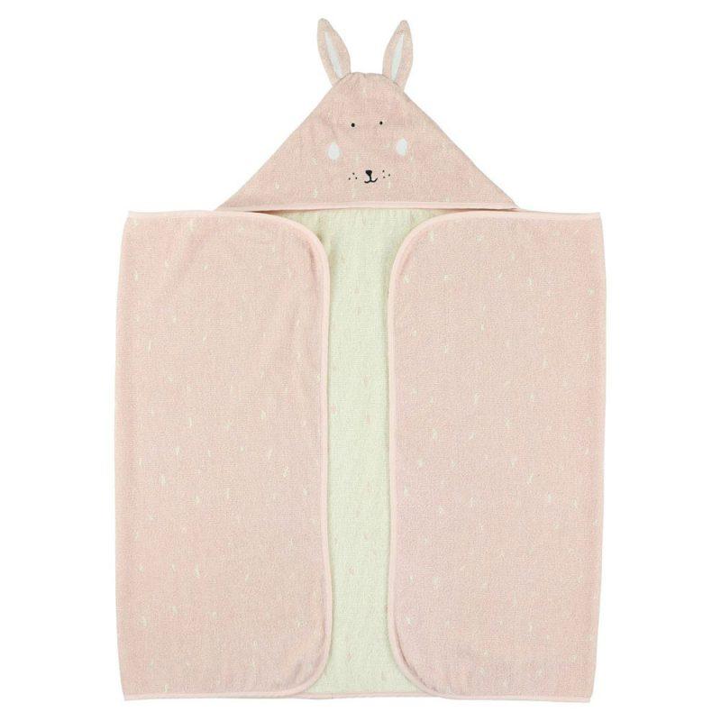 Trixie Baby Ręcznik z kapturkiem 70x130 cm Mrs.Rabbit - Pan Talerzyk