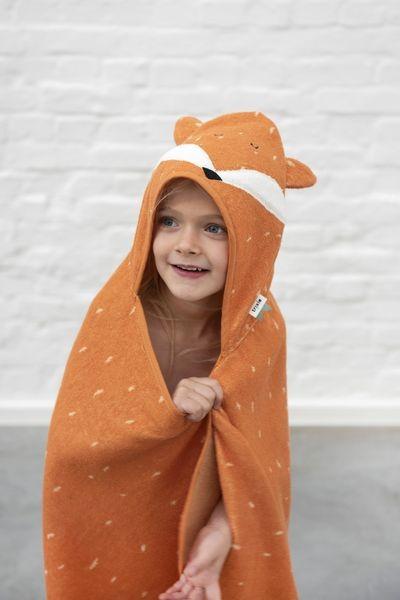 Trixie Baby Ręcznik z kapturkiem 75x75 cm Mr.Fox - Pan Talerzyk
