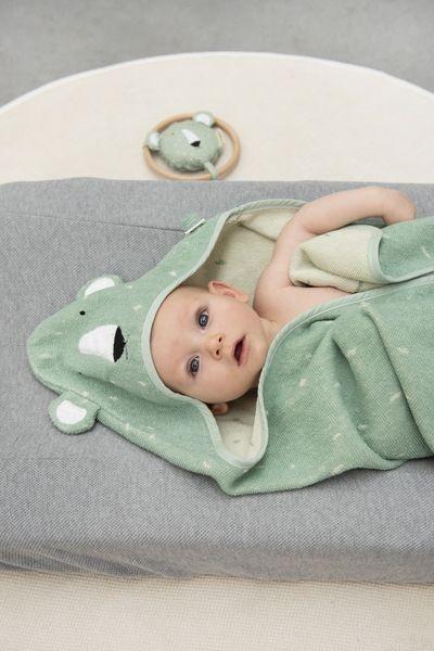 Trixie Baby Ręcznik z kapturkiem 75x75 cm Mr.Polar Bear - Pan Talerzyk