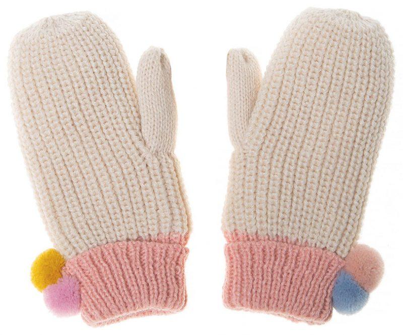 Rockahula Kids Rękawiczki zimowe Dreamy Rainbow Knit Bobble - Pan Talerzyk