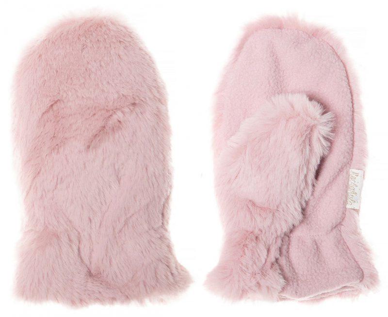 Rockahula Kids Rękawiczki zimowe futerko Teddy Fur Dusky Pink - Pan Talerzyk