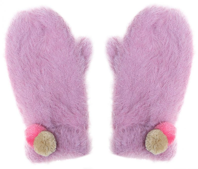 Rockahula Kids Rękawiczki zimowe Fluffy Spot - Pan Talerzyk