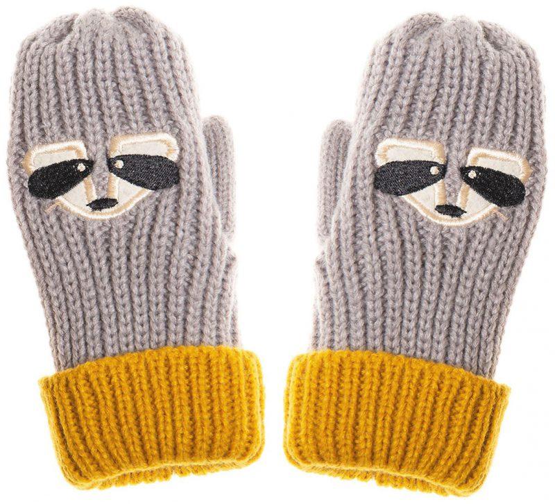 Rockahula Kids Rękawiczki zimowe Ronnie Racoon - Pan Talerzyk