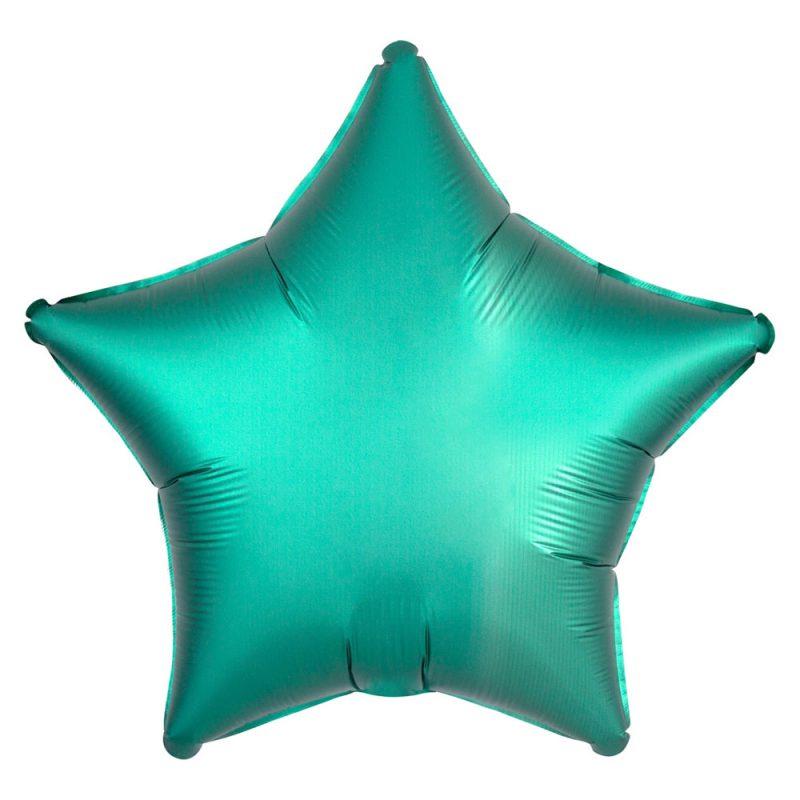 Anagram Satynowy balon foliowy 43 cm - zielona gwiazda - Pan Talerzyk