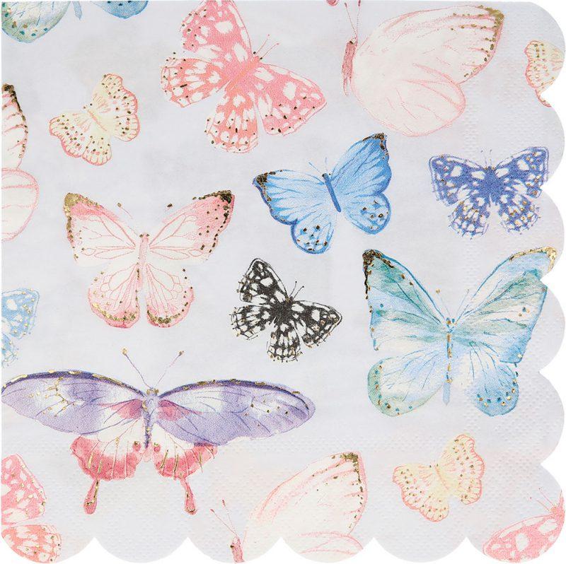 Meri Meri Serwetki motyle - 16 sztuk - Pan Talerzyk