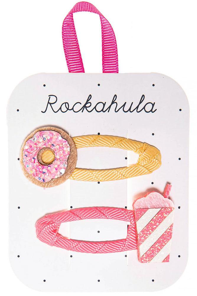 Rockahula Kids Spinki do włosów Donat and Milkshake - Pan Talerzyk