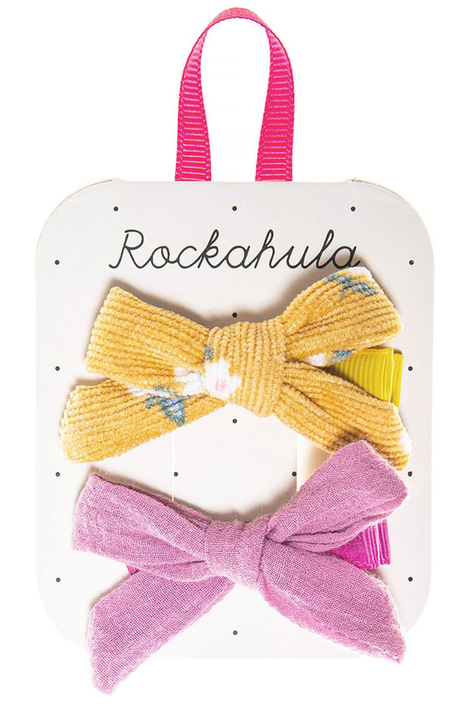 Rockahula Kids Spinki do włosów Florence Tie Ochre - Pan Talerzyk