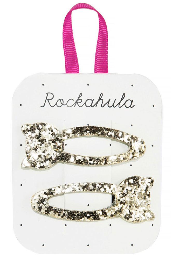 Rockahula Kids Spinki do włosów Glitter Cat - Pan Talerzyk