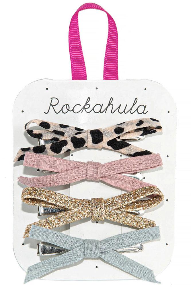Rockahula Kids Spinki do włosów Lily Leopard - Pan Talerzyk