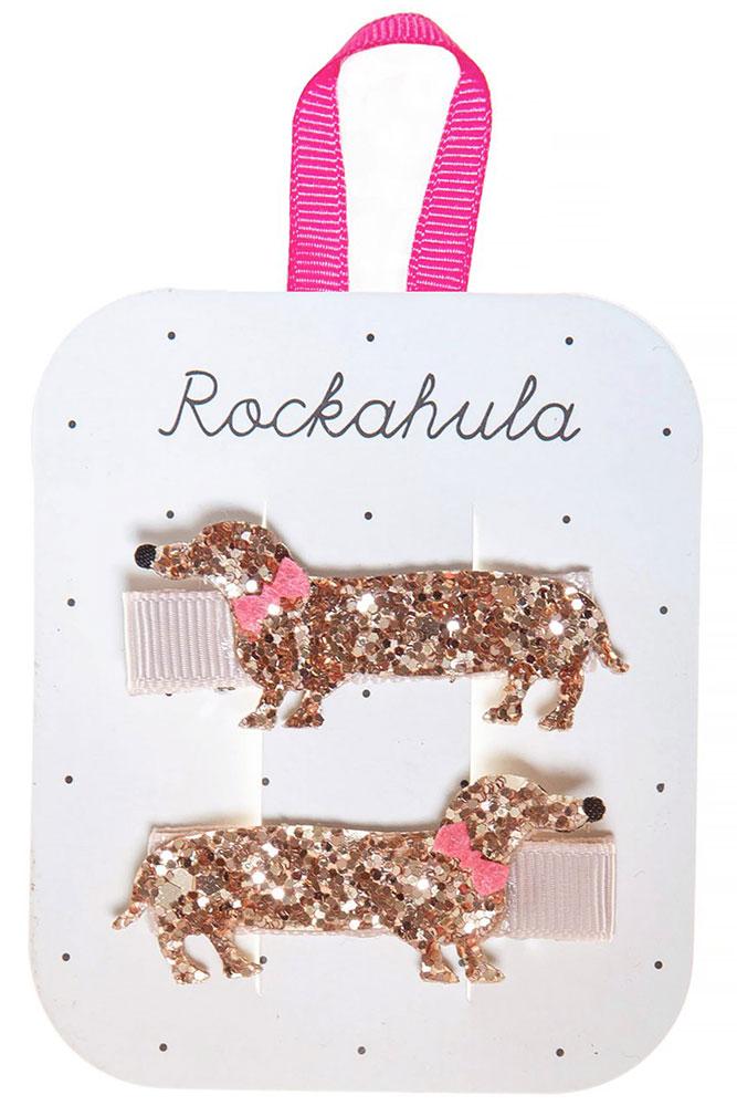 Rockahula Kids Spinki do włosów Morris Sausage Dog - Pan Talerzyk
