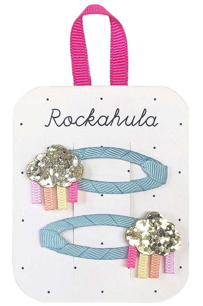 Rockahula Kids Spinki do włosów Rainbow Cloud Glitter - Pan Talerzyk